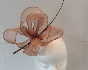 Hat Flamen - headdress bibi nude beige or dark pink