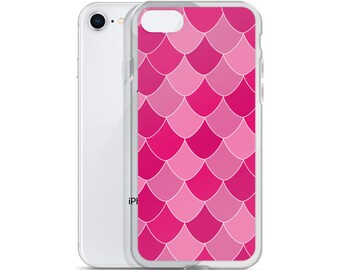 Pink Mermaid Scale iPhone Case