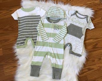 Newborn boy coming home outfit, newborn boy gift, newborn baby boy outfit