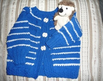 Vest for little boy blue striped White