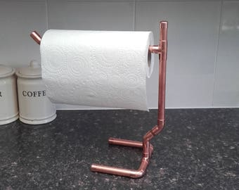 Hand made copper kitchen roll holder
