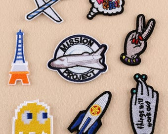 patches,fingers iron on patch set,airplane patch,hats patches,patches for backpacks,patches for jeans,patches for denim jackets