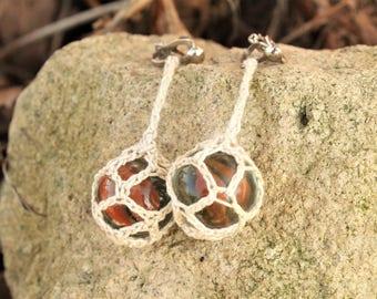nautical style clip earrings