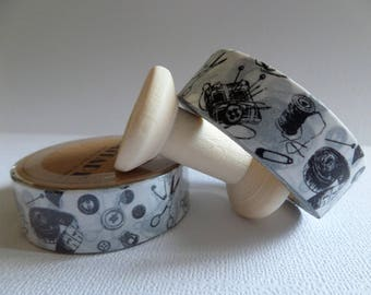 Washi tape vintage couture black and white