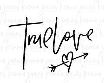 True Love svg | Love svg | Couple svg | Arrow svg | Heart svg | SVG | DXF | JPG | cut file
