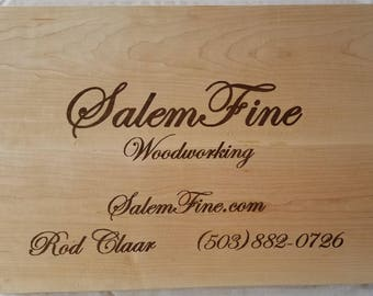 Business Card Sign