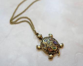 Bronze turtle pendant necklace women jewellery