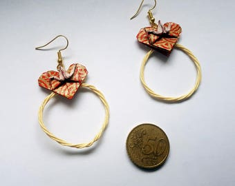 Valentine's day gold earrings