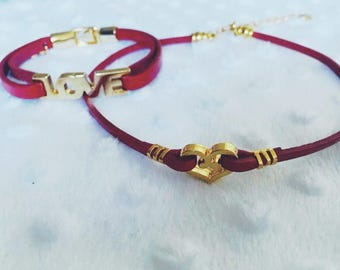 Love choker & bracelet set