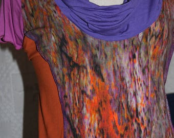 "Blouse ""Cosmos"" or paint Jersey T-shirt (size 48-50)"