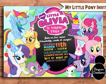 My Little Pony Invitation. My Little Pony Birthday Party. My Little Pony Birthday Invite