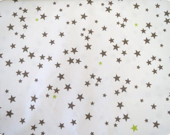 Fabric taupe star anise, 150cm wide