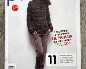 Phildar magazine - Winter mohair yarn (knit)