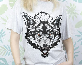 Tshirt wolf Shirt with wolf Tshirt animal Tshirt for women Tshirt youth Birthday gift Tshirt of art Tshirt for men Shirt xs Shirt EDS_233