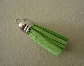 Tassel charm suede 36mm Green