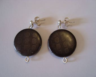 Earrings grey 1