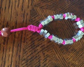 Pink Nut Bracelelet