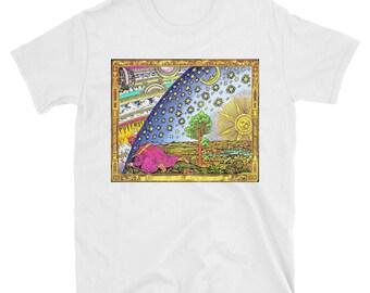 Flammarion - Psychedelic Short-Sleeve Unisex T-Shirt