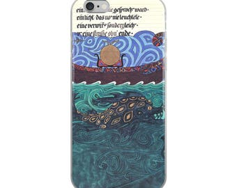 The Sun boat & Sea Monster- Jungian Art - iPhone Case