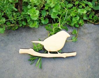 Bird 1322b wood 6 mm wooden Littles embellishment