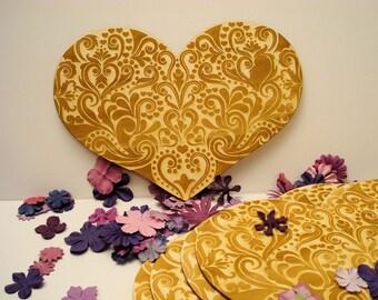 Heart 20 x 28 cm 1536 embellishment wooden creations