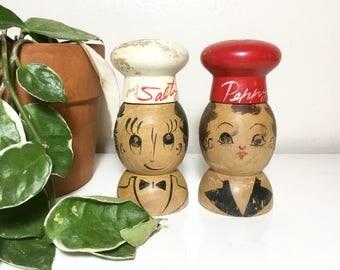 Vintage Salty & Peppy Shakers