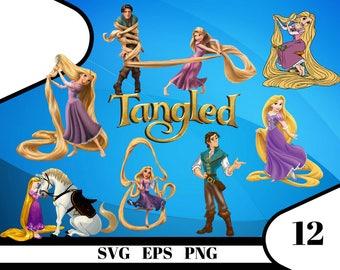 12 Tangled Clipart – (svg, eps, dxf , png) Digital 300 PPI PNG, Vectorial images, Photos, Scrapbook, Digital, Cliparts, Decoration