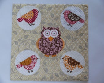 """""""OWL and birds"""" paper towel"""