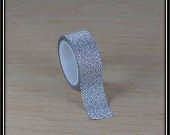 masking tape glittery silver 15mm x 3 m
