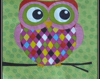 "with a paper towel ""OWL Harlequin"""