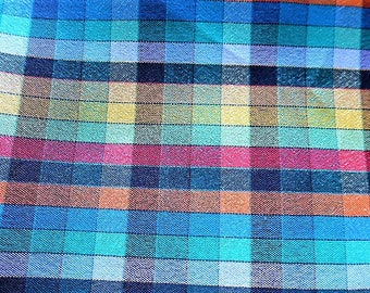 Plaid polyester for couture creations sold by 50 cm