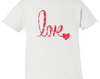 LOVE Shirt, Valentines Day Shirt, Custom Valentines Day Gift, Gift for Her, Youth Valentines Day Shirt, Love, Heart, Valentines
