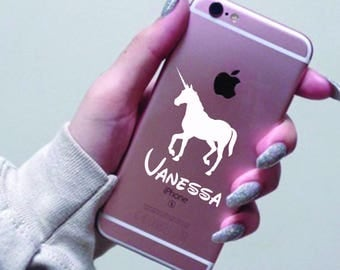 Unicorn phone case with personalization NAME blog name fanpage instagram, iPhone X, iPhone 8, iPhone 8 Plus, iPhone 7 Plus, Samsung