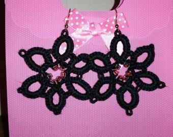 """Hand-made """"Star"""" earrings"""