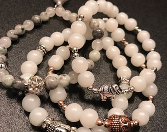 Good karma bracelet stack