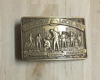 Laborers Local 300 Belt Buckle