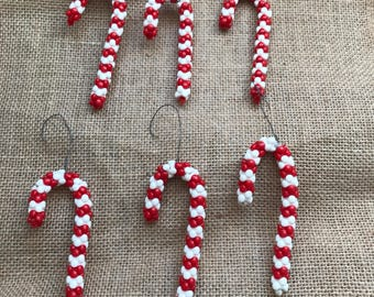 Candy cane homeade ornament
