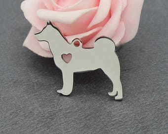 A charm dog Figure 30 x 27 mm BR647 304 stainless steel
