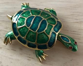 Boucher Turtle Pin Brooch