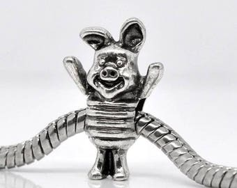 Pandora disney piglet silver charm for pandora charm bracelets and necklaces jewellery making pandora charms disney range