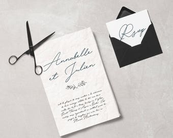 Simple and Elegant calligraphy for Wedding Stationary