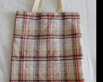 Fabric bag / Tote Bag campaign: Plaid