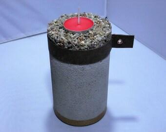 Concrete Candle Holder Pebble_Jumbo