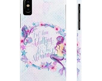 Let's Be Mermaids Phone Case, Mermaid Phone Case, Mermaid iPhone Case, Mermaid Samsung Case, Mermaid Scales Phone Case, iPhone 7 Case
