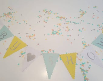 Baby Shower Bunting. Neutral baby shower bunting.