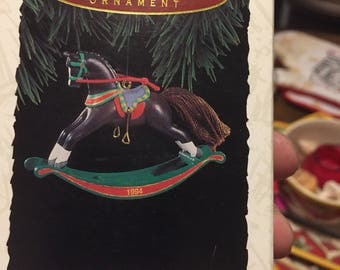 Hallmark Keepsake Ornament Rocking Horse 1994 Collectors Series Free Shipping!