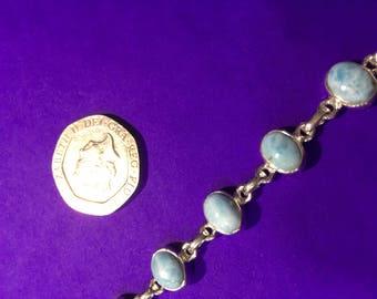 Sterling Silver Larimar Bracelet