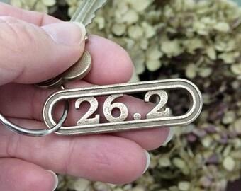 Marathon running accessory 26.2 marathon keychain, runner jewelry, marathon running gear training motivation, sports keychain 5k 10k 131 262