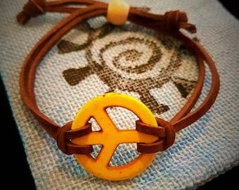 Adjustable Peace Bracelet