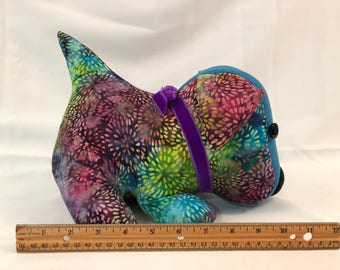 Dog Doorstop / rainbow